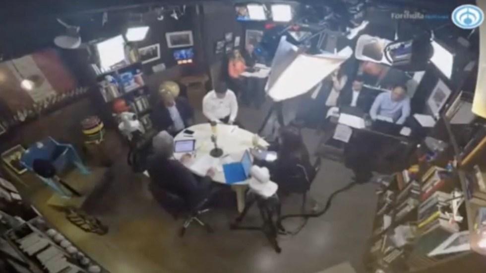 Mesa política de los presidentes de los partidos tras el Tercer Debate - Captura de Pantalla