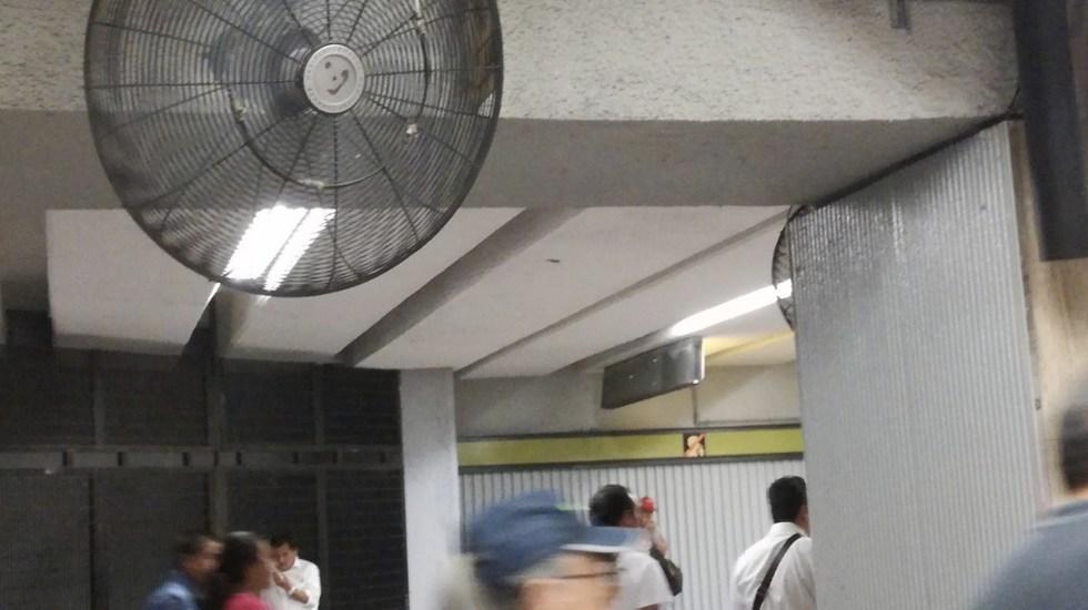 Instalan bebederos y ventiladores en el Metro para mitigar el calor - Foto de Twitter Metro