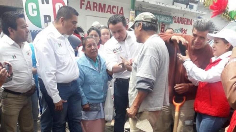Mikel promete casas gratis a damnificados de Tlalpan - Foto de El Universal