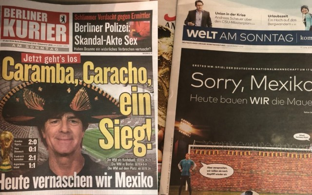 Lo que dicen los periódicos alemanes del partido contra México - Foto de Twitter
