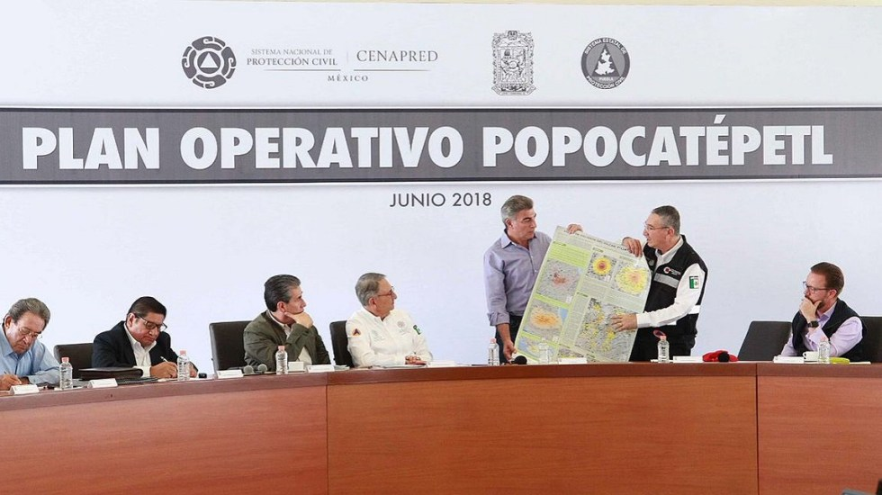 Puebla actualiza plan de acción en caso de erupción del Popocatépetl - Foto de @TonyGali