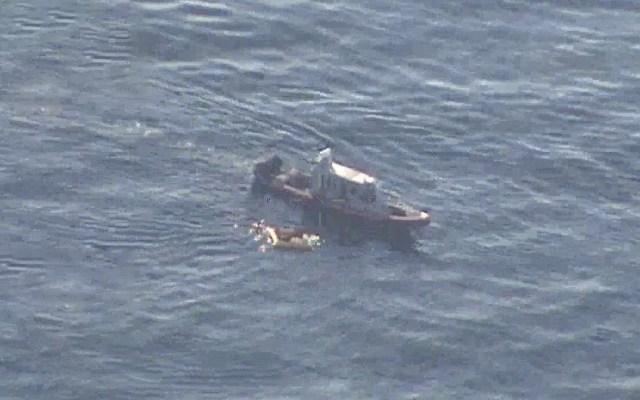 #Video Semar rescata a tripulantes de avioneta que cayó al mar - Foto de @PrensaLyO