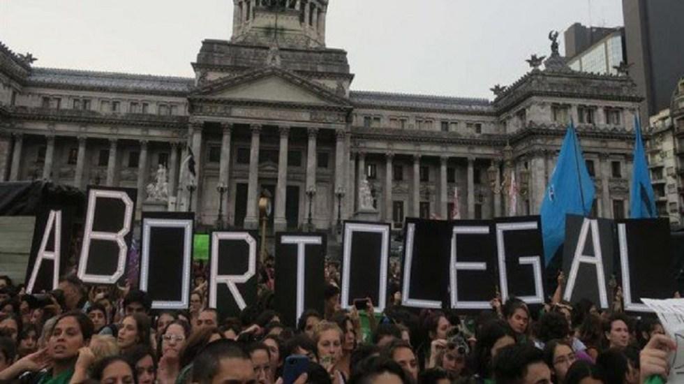 Diputados de Argentina aprueban despenalización del aborto - Foto de Twitter