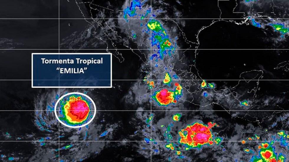Tormenta tropical Emilia se aleja de costas mexicanas - Foto de @conagua_clima