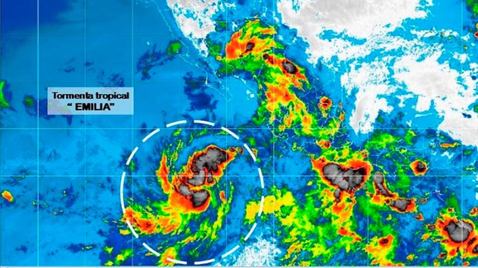 Depresión se convierte en tormenta tropical Emilia - Foto de @conagua_clima