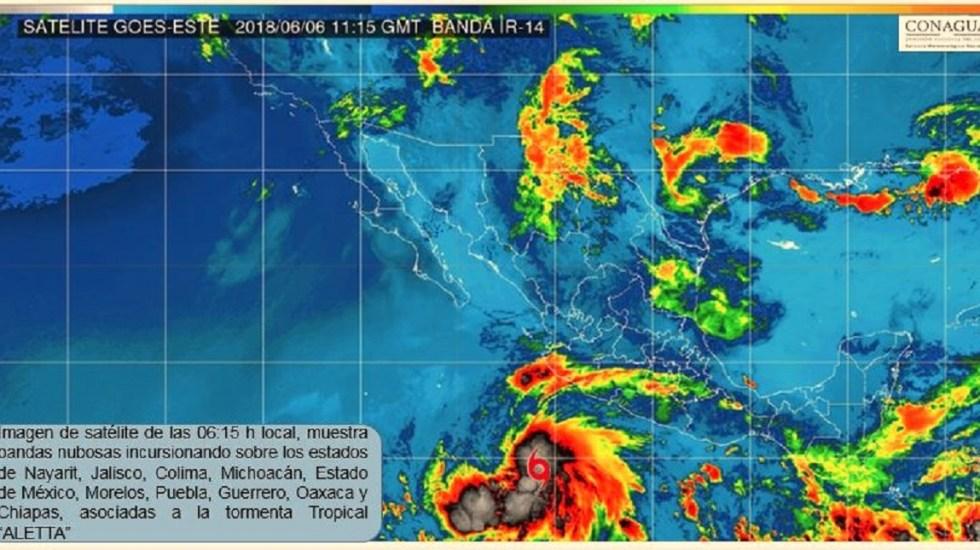 Tormenta tropical Aletta propiciará lluvias intensas en México - Foto de @conagua_clima