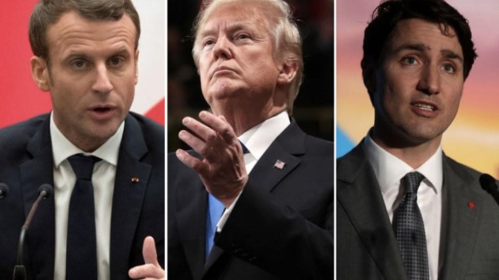 Trump, Trudeau y Macron cruzan ataques previo a encuentro del G-7 - Foto de Internet