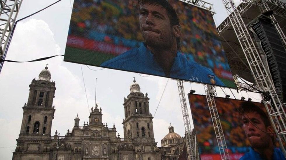 Instalan Zocafut en la Ciudad de México - Foto de Notimex