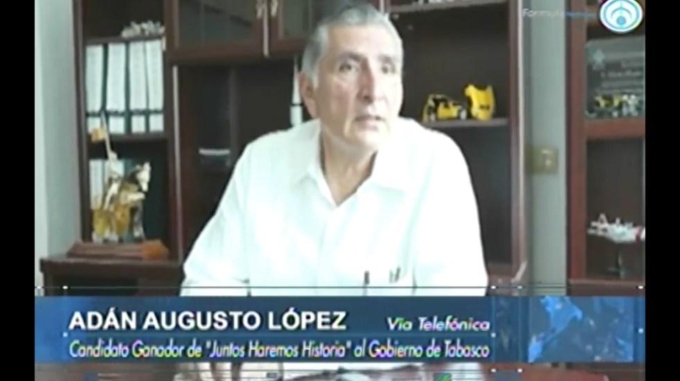 Trabajaremos para que Tabasco recupere su esplendor: Adán López