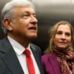 AMLO y Beatriz Gutiérrez Müller. Foto de internet