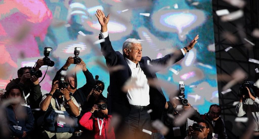 Sector empresarial listo para trabajar con AMLO en TLC - Festejo de López Obrador en el Zócalo de la CDMX tras ganar elecciones de 2018. Foto de Twitter