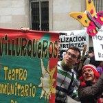 #VIRAL La protesta de artistas que terminó en celebración