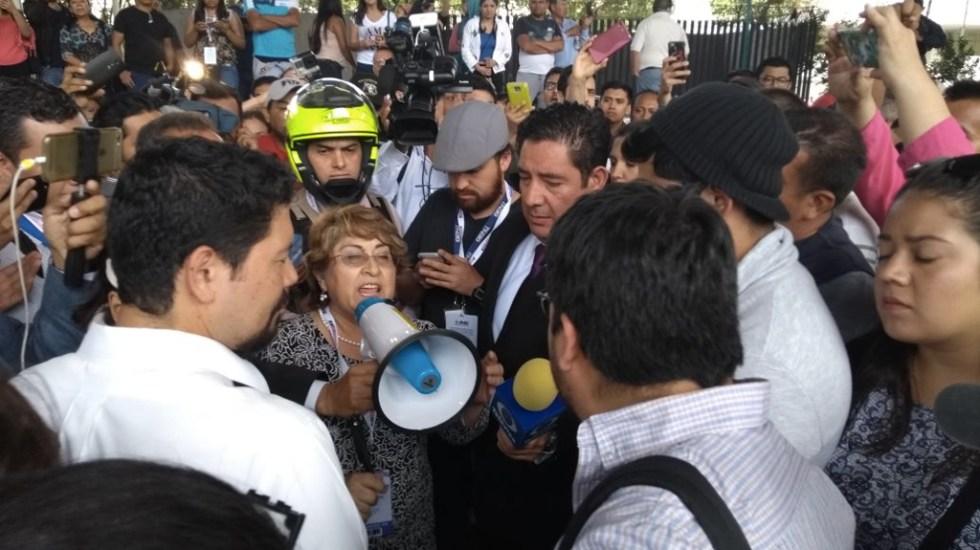 Bloqueo en Tlalpan por falta de boletas en casillas especiales - Foto de Foro TV
