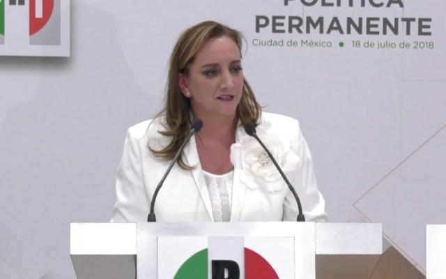 Claudia Ruiz Massieu toma protesta como presidenta del PRI - Captura de Pantalla