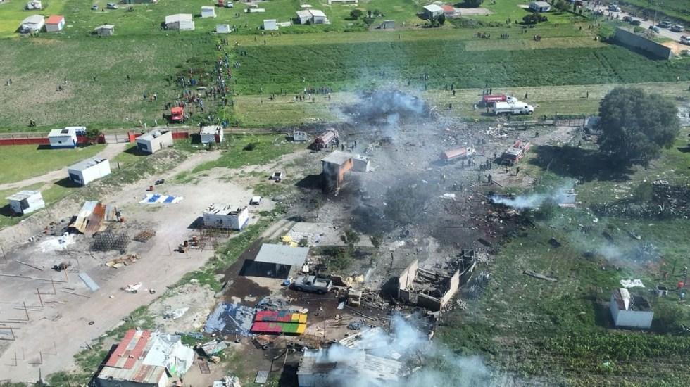 CNDH pide implementar medidas cautelares tras explosión en Tultepec - Foto del GEM