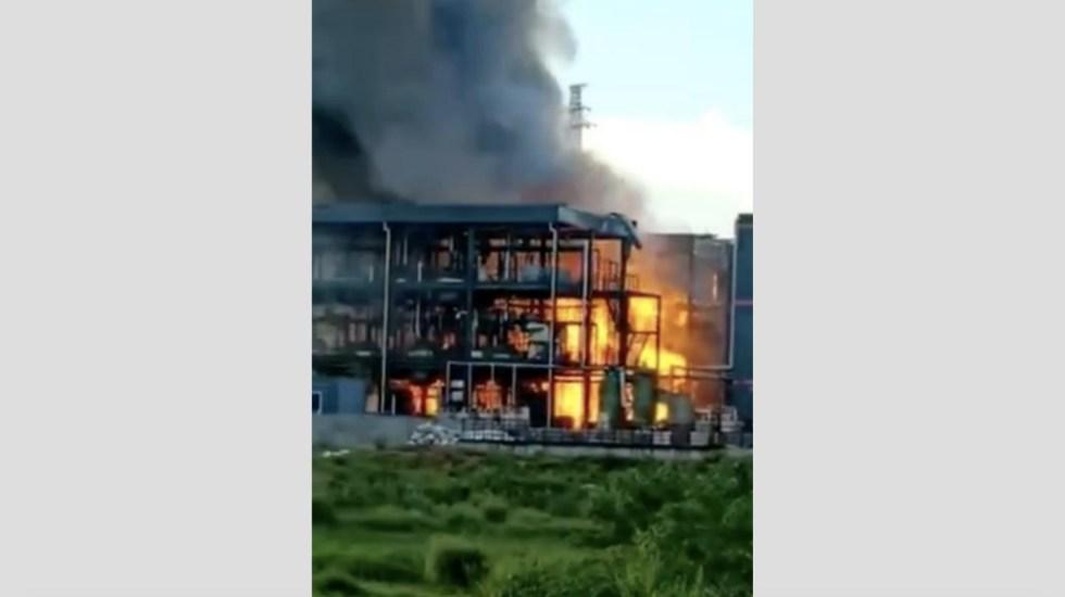 Explosión en parque industrial de China deja 19 muertos - Foto de @PDChina