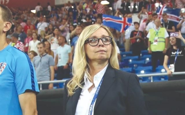 ¿Quién es la mujer que se sienta en la banca croata? - Foto de Getty Images
