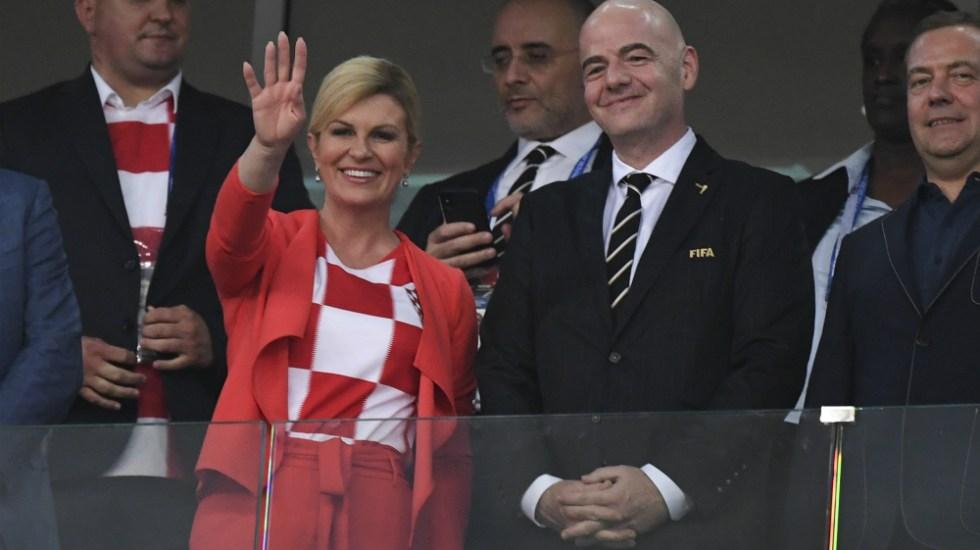 Presidenta de Croacia se descuenta sueldo por asistir al Mundial - Foto de AFP