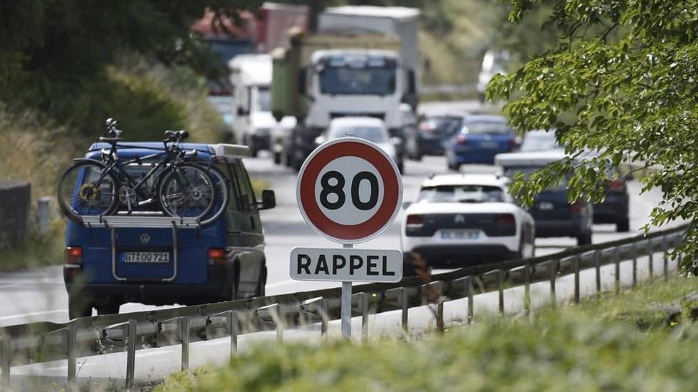 Francia baja límite de velocidad en carreteras secundarias - Foto de AFP