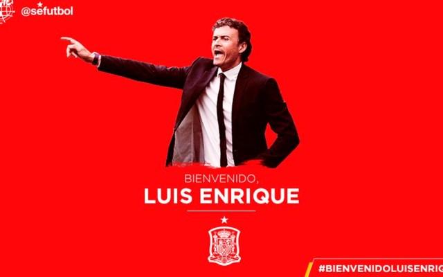 Luis Enrique es el nuevo director técnico de la selección de España - Foto de @SeFutbol