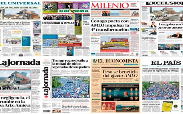 Conago, AMLO, Trump y OTAN en primeras planas