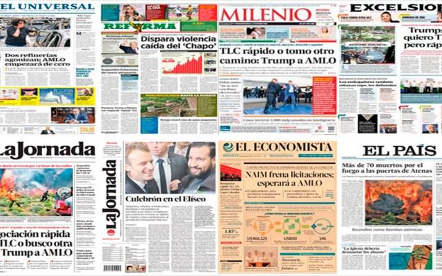 AMLO, TLC, Trump y Grecia en primeras planas