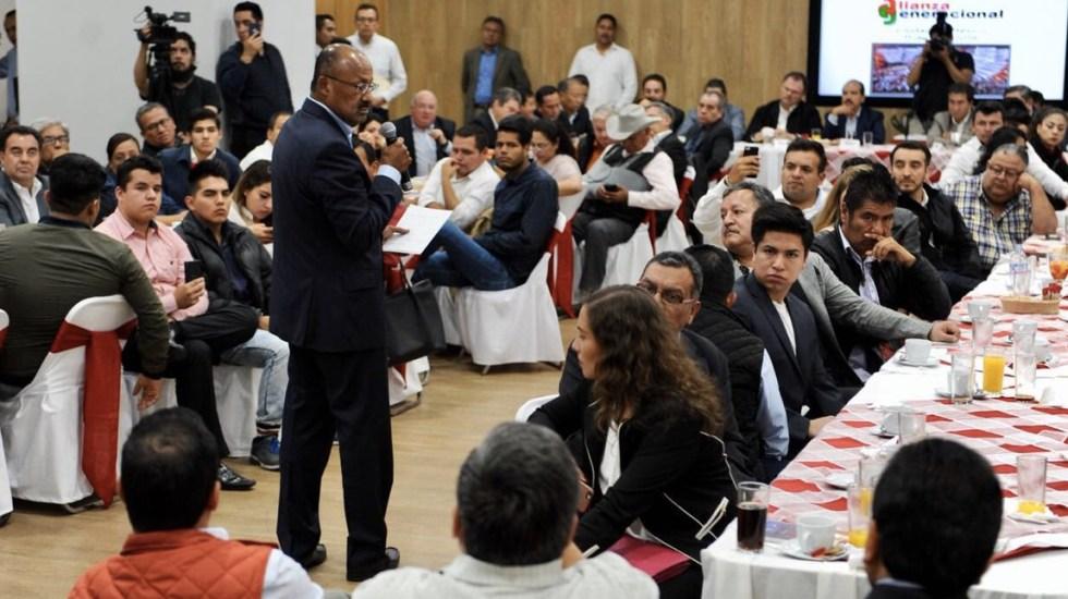 René Juárez llama a la reflexión para reconstrucción del PRI - Foto de @JuarezCisneros