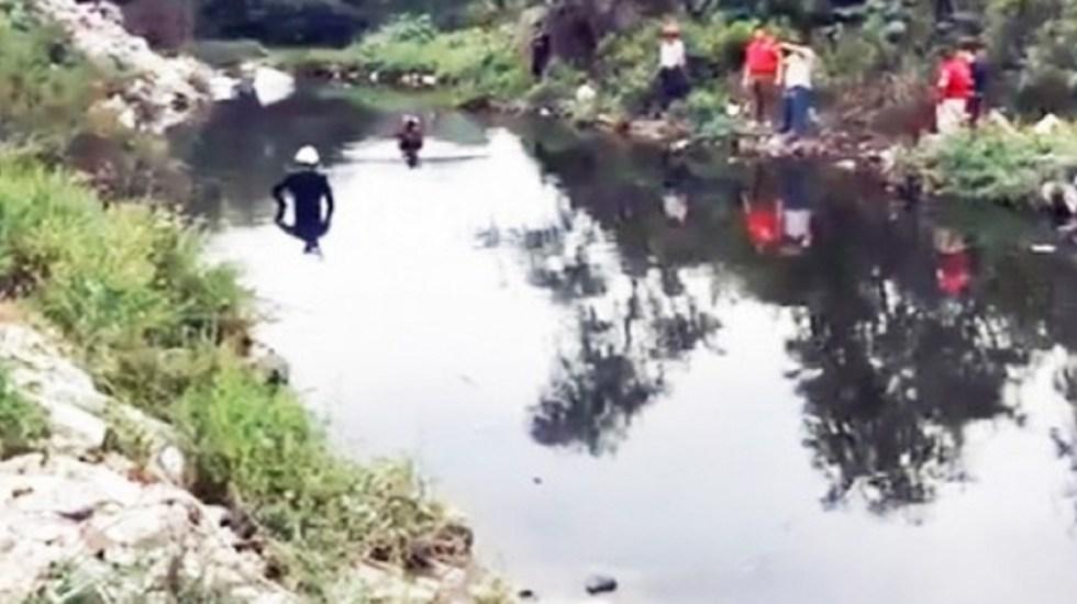 Rescatan cadáver de niño arrastrado por un río en Nuevo León - Foto de internet