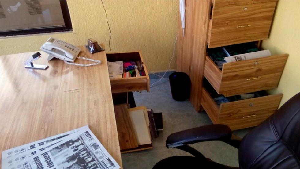 Roban oficinas de periódico Cambio 21 en Hidalgo - Foto de Diario Cambio 21
