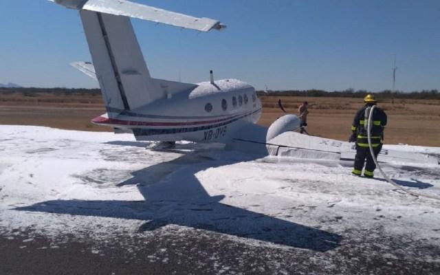 Se accidenta avioneta en Aeropuerto de Hermosillo - Foto de @UlisesGtzR