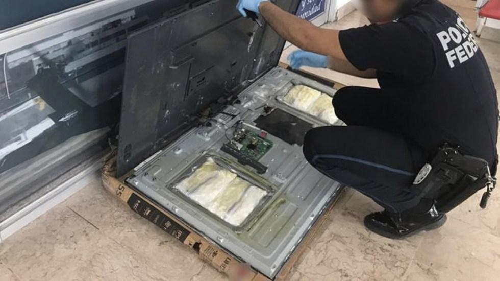 Encuentran crystal en smart tv en Sinaloa - Foto de CNS