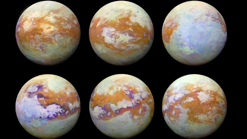 NASA expone nueva fotografías de Titán, luna de Saturno - Foto de NASA
