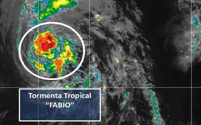 Tormenta Fabio se aleja de México sin provocar lluvias - Foto de Conagua