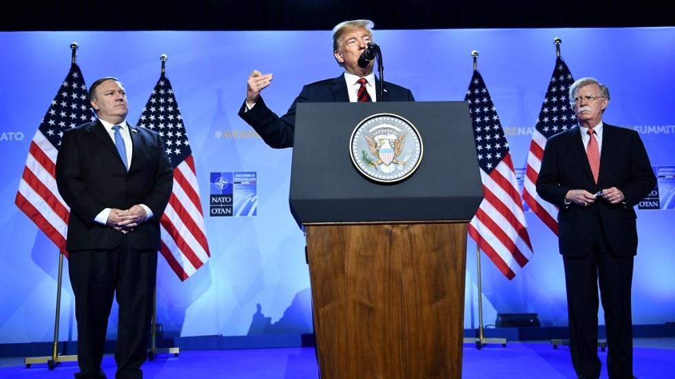 """Trump pide a la Unión Europea """"tener cuidado"""" con la migración - Foto de AFP / Brendan Smialowski"""