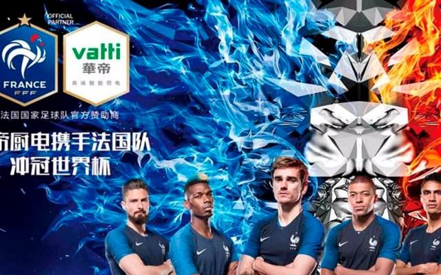 Triunfo de Francia le cuesta 10 mde a patrocinador chino - Foto de Twitter