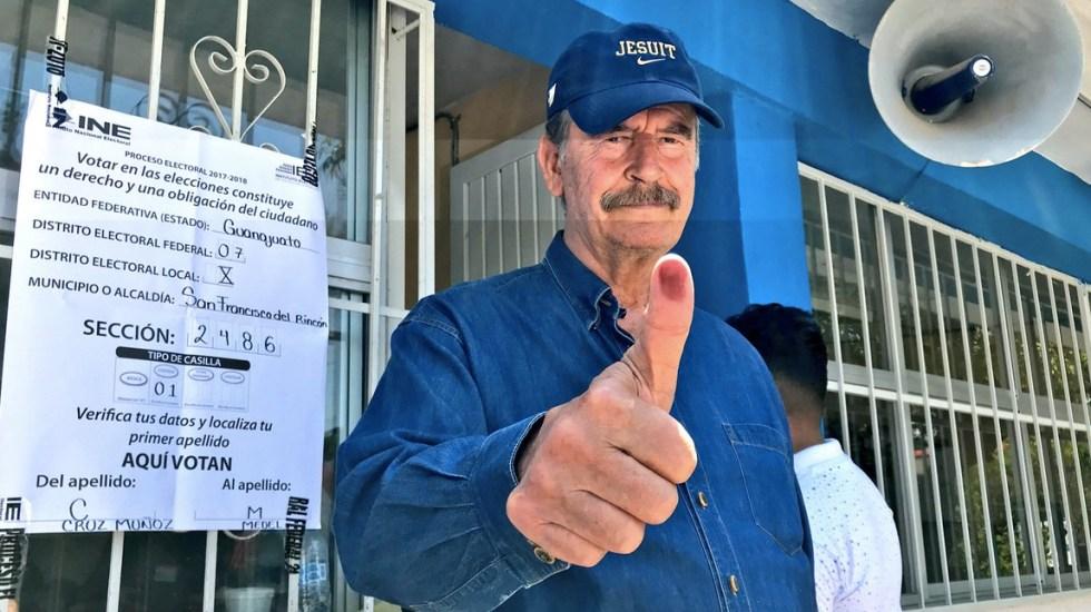 ¿Por quién votó Vicente Fox? - Foto de @VicenteFoxQue