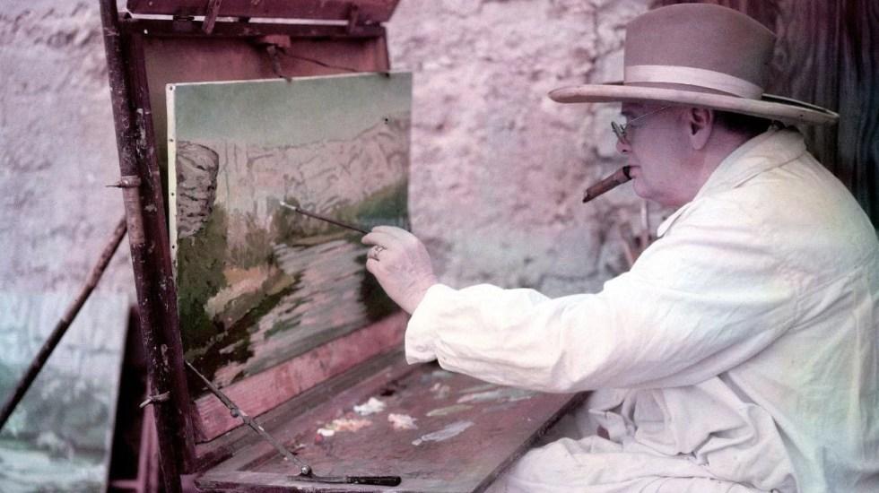Venden pinturas realizadas por Winston Churchill - Foto de Internet