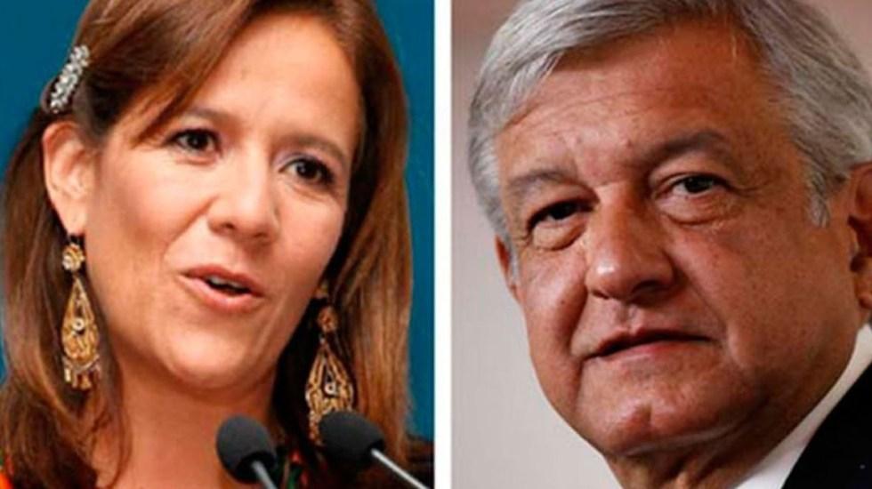 Margarita Zavala reta a AMLO a recortar el financiamiento a partidos