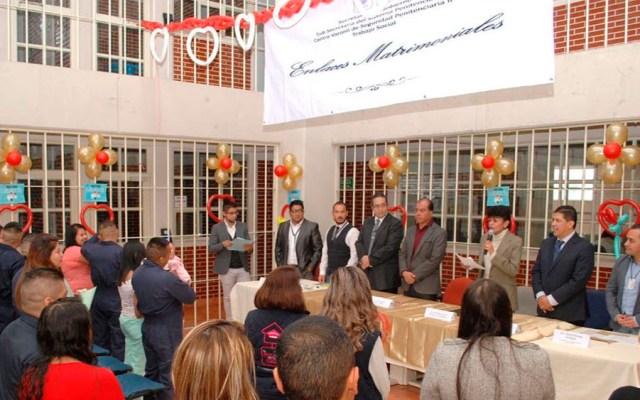 Se casan 13 reos en Centro Varonil de Seguridad Penitenciaria - Foto Especial