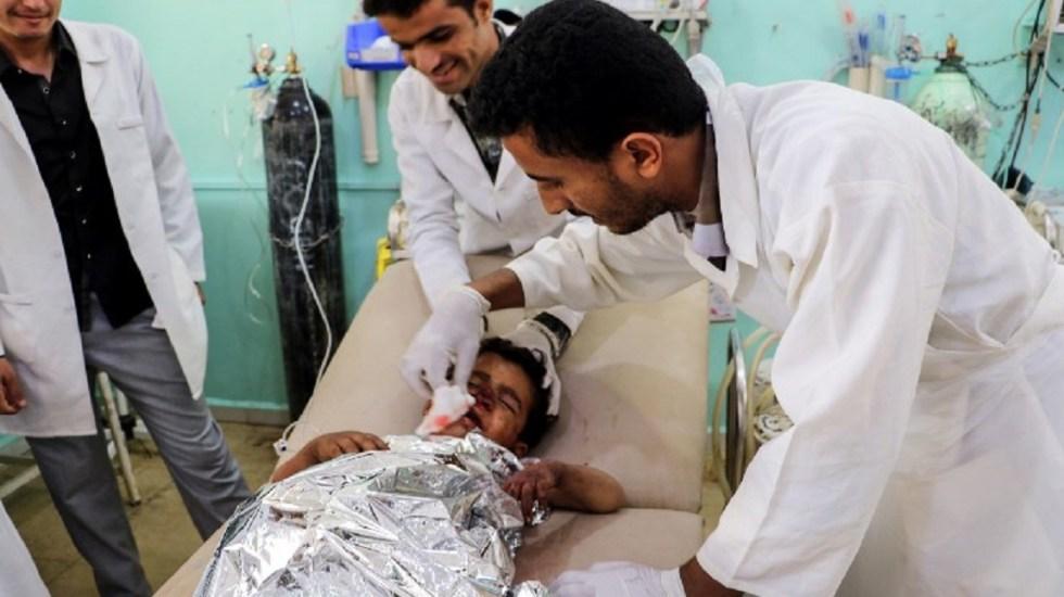 Mueren 39 en bombardeo a autobús con niños en Yemen - Foto de AFP / Stringer