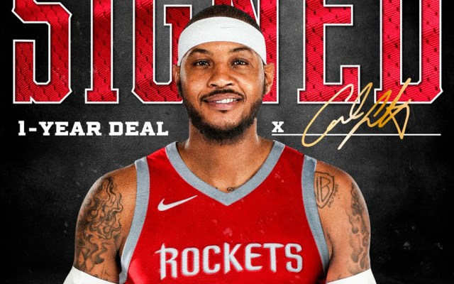 Carmelo Anthony jugará con los Houston Rockets - Foto de @HoustonRockets