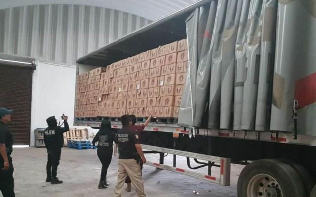 Detienen a 12 sujetos por robar tráiler con 3 mil cajas de cerveza