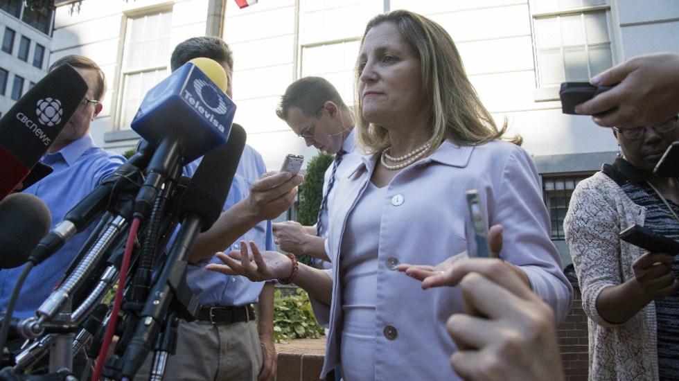 Canadá y EE.UU. sin acuerdo por TLCAN; seguirán discusiones el viernes