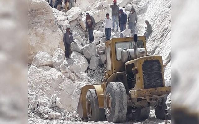 Confirman cuatro muertos por derrumbe de mina en Hidalgo - Foto de Twitter