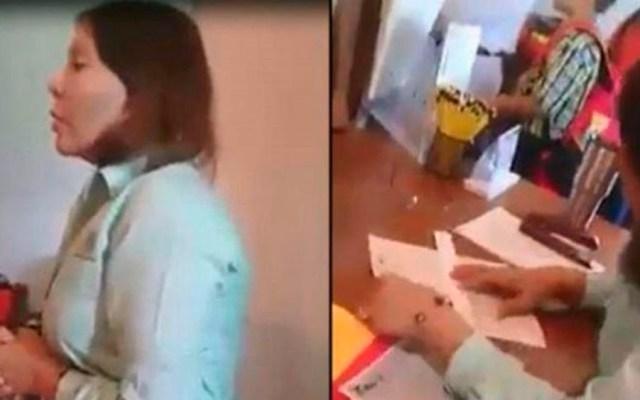 #Video Directora pide cuota para entregar libros de texto en Tamaulipas