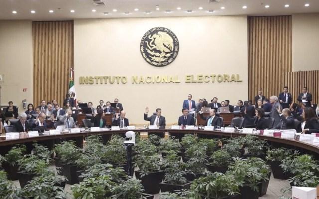 Analizan medidas para agilizar liquidación de PES y Panal - Foto de Twitter INE