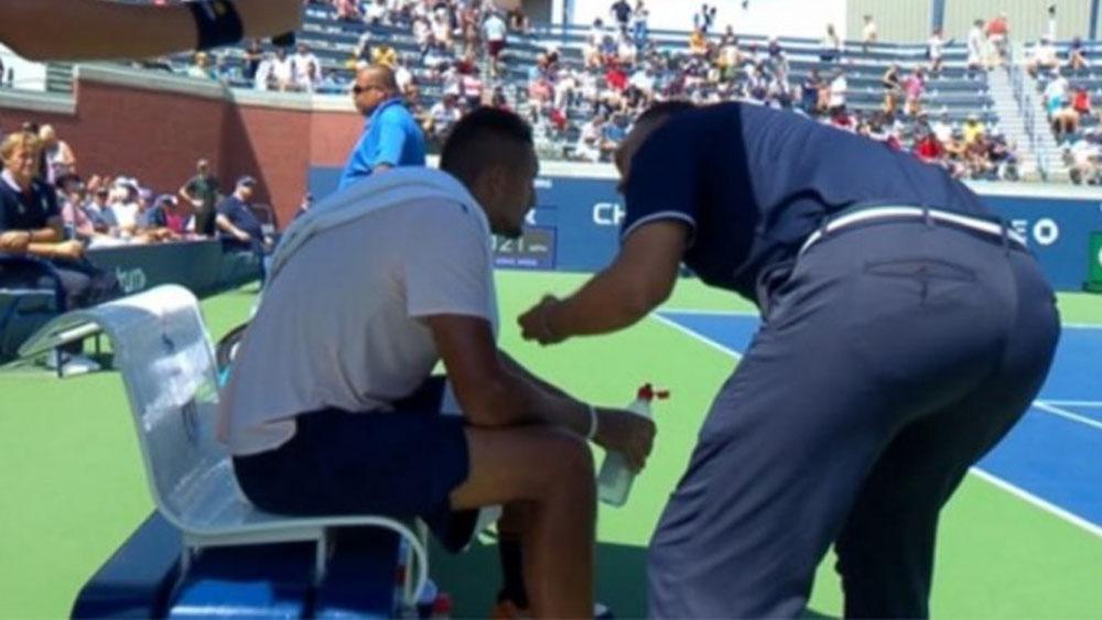 #Video Juez le pide a Nick Kyrgios que se esfuerce más durante partido