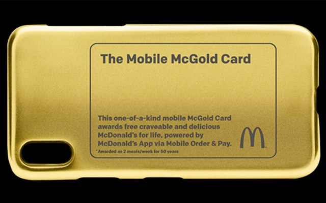 La tarjeta que te permitirá comer en McDonald´s de por vida - Foto de McDonald's