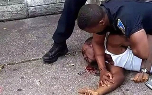 Acusan de agresión a policía de Baltimore por golpiza - Foto Captura de Pantalla
