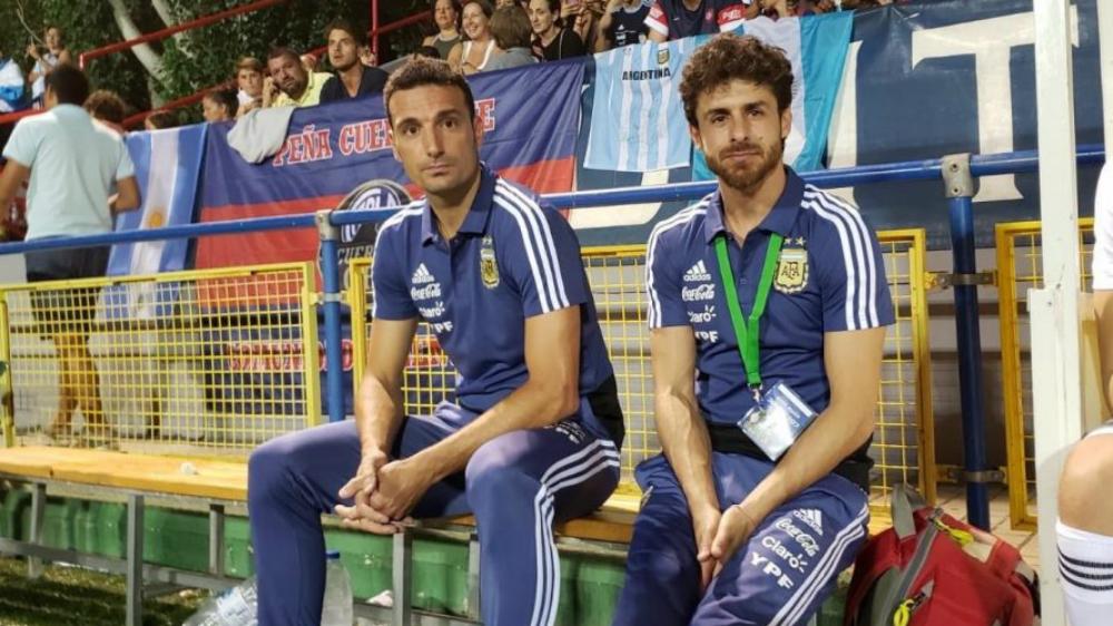 Scaloni y Aimar, entrenadores interinos en la selección argentina - Foto de La Unión